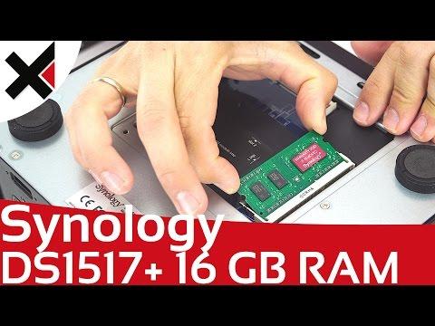 Synology DiskStation DS1517+ mit 16 GB RAM aufrüsten   iDomiX
