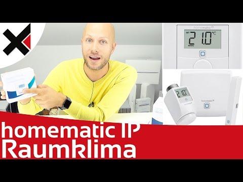 Homematic IP Raumklima Überblick und Einrichten Wandthermostat Wandtaster