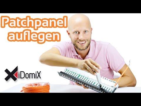 Patchpanel / Patchfeld auflegen | iDomiX