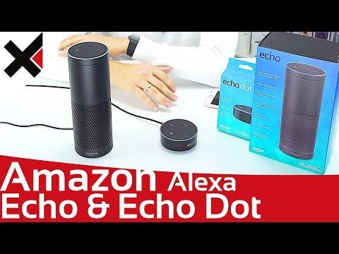 Amazon Echo & Echo Dot Alexa ausgepackt & ausprobiert Deutsch