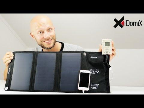 SNAN 21W Solarladegerät mit Dual USB Review | iDomiX