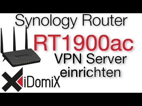 Synology Router RT1900ac VPN Server einrichten Verbindung aufbauen