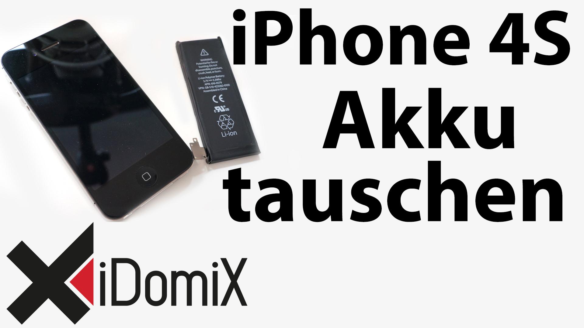 #233 Apple iPhone 4S Akku tauschen / wechseln