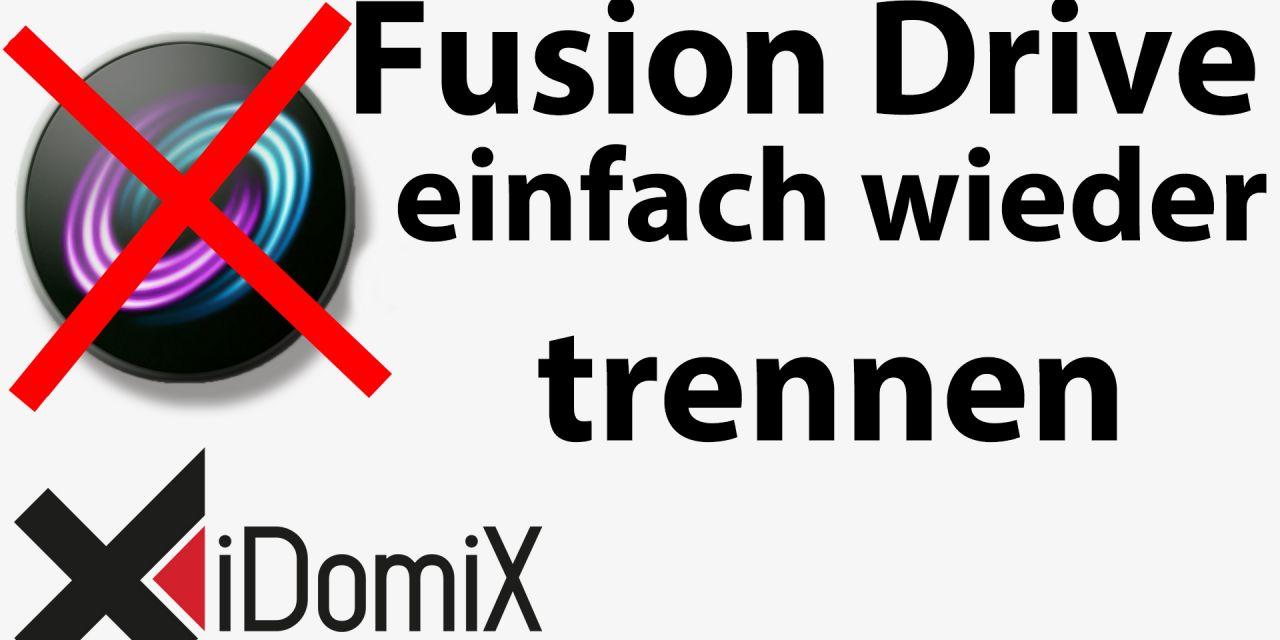 #234 Fusion Drive trennen, deaktivieren, rückgängig machen, separieren
