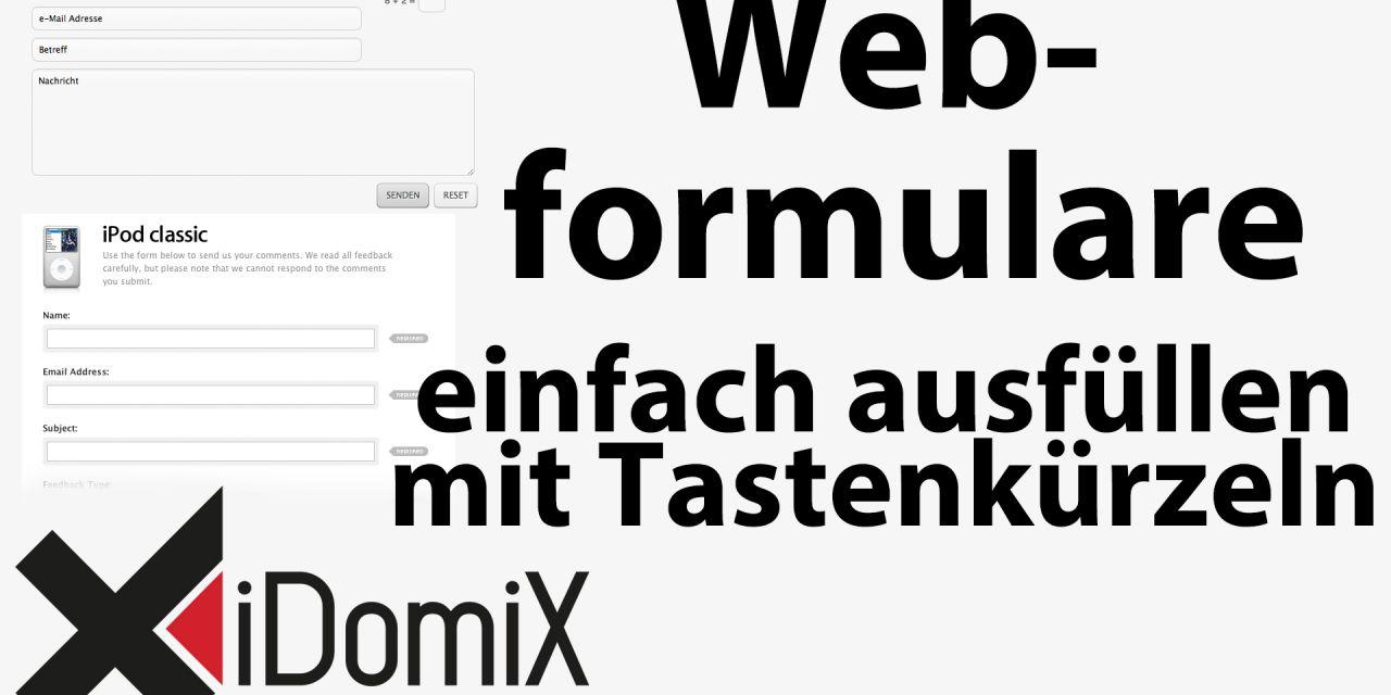 #239 Webformulare schnell ausfüllen mit Tastaturkürzeln