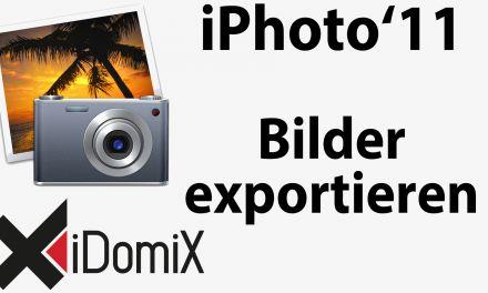 #242 iPhoto Fotos exportieren (Einstellungen und Erklärung)