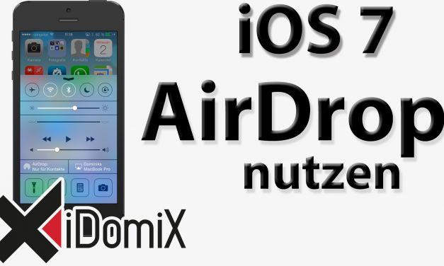 iOS 7 AirDrop nutzen