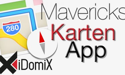 OS X Mavericks Karten App