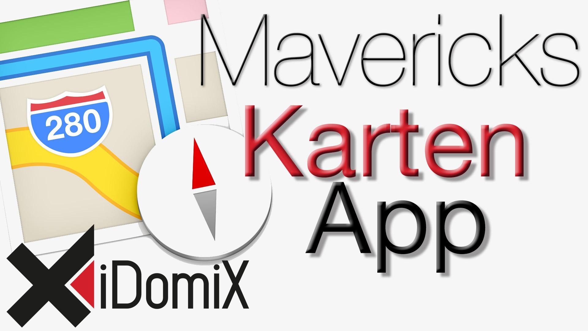 OS X Mavericks Karten App