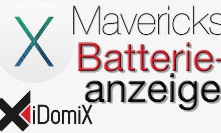Die neue Batterieanzeige in Mavericks