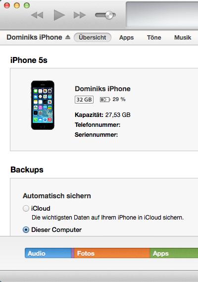 iTunes unter Mavericks