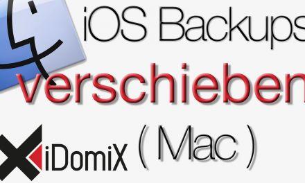 iOS Backups auf externe Festplatte verschieben (Mac)