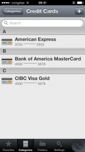 Kreditkartenverwaltung