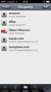 Ordner in 1 Password 4 für iOS