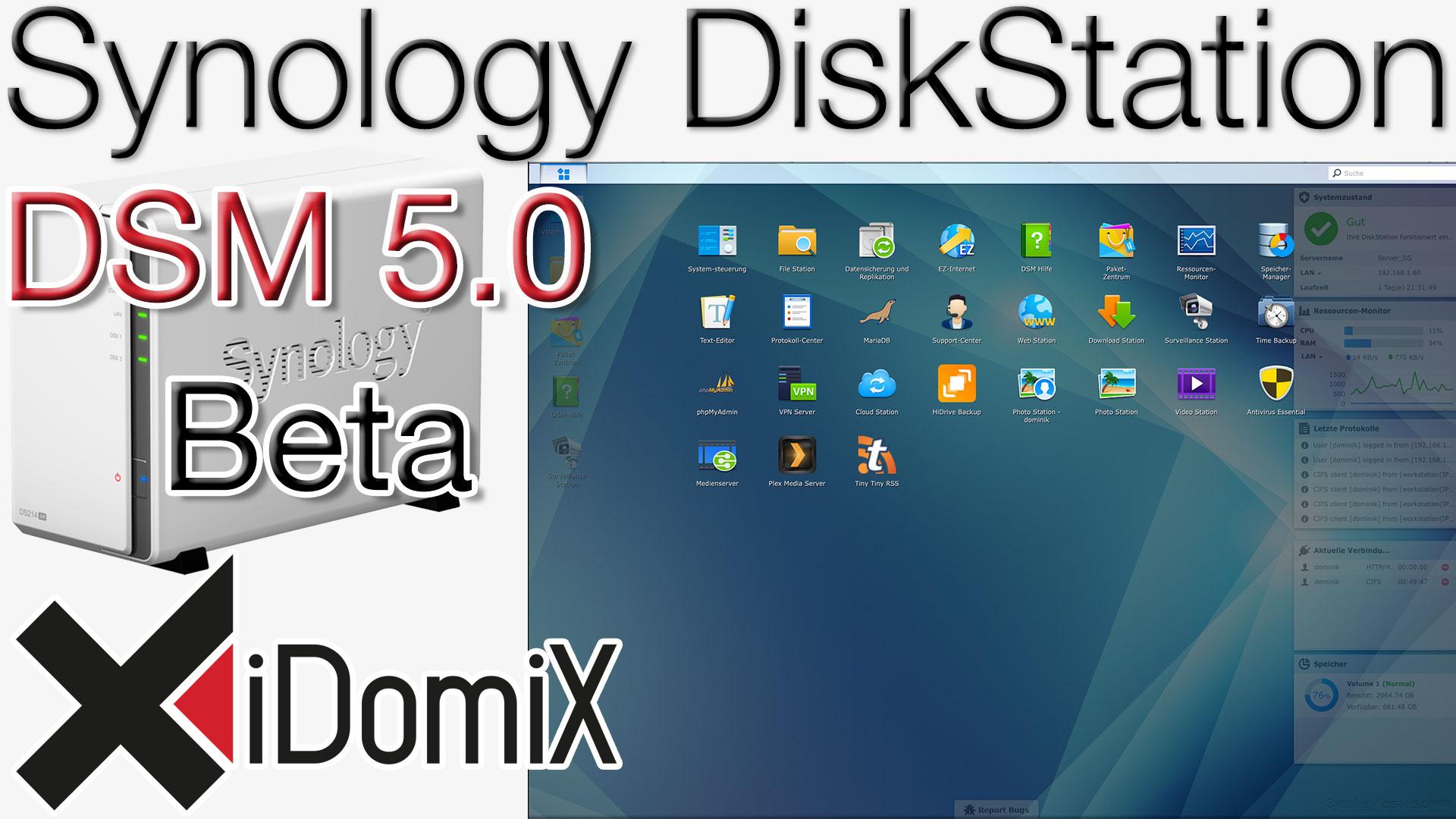Synology DiskStation DSM 5.0 Beta kurzer Überblick