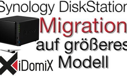 Wechsel von kleiner auf größere DiskStation mit Datenübernahme