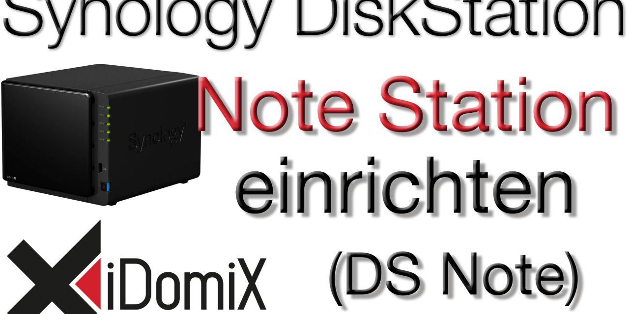 Synology DiskStation Note Station DS Note einrichten - iDomiX