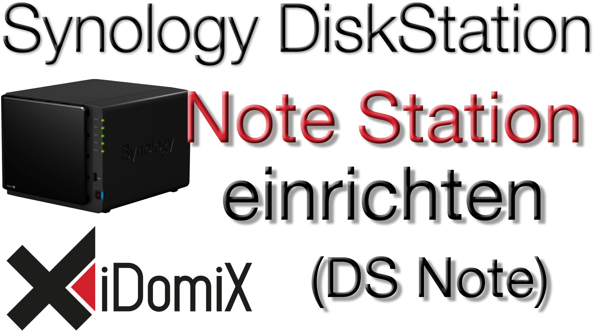 Synology DiskStation Note Station DS Note einrichten