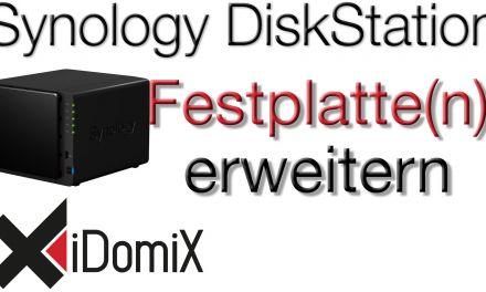 Synology DiskStation Festplatte(n) erweitern