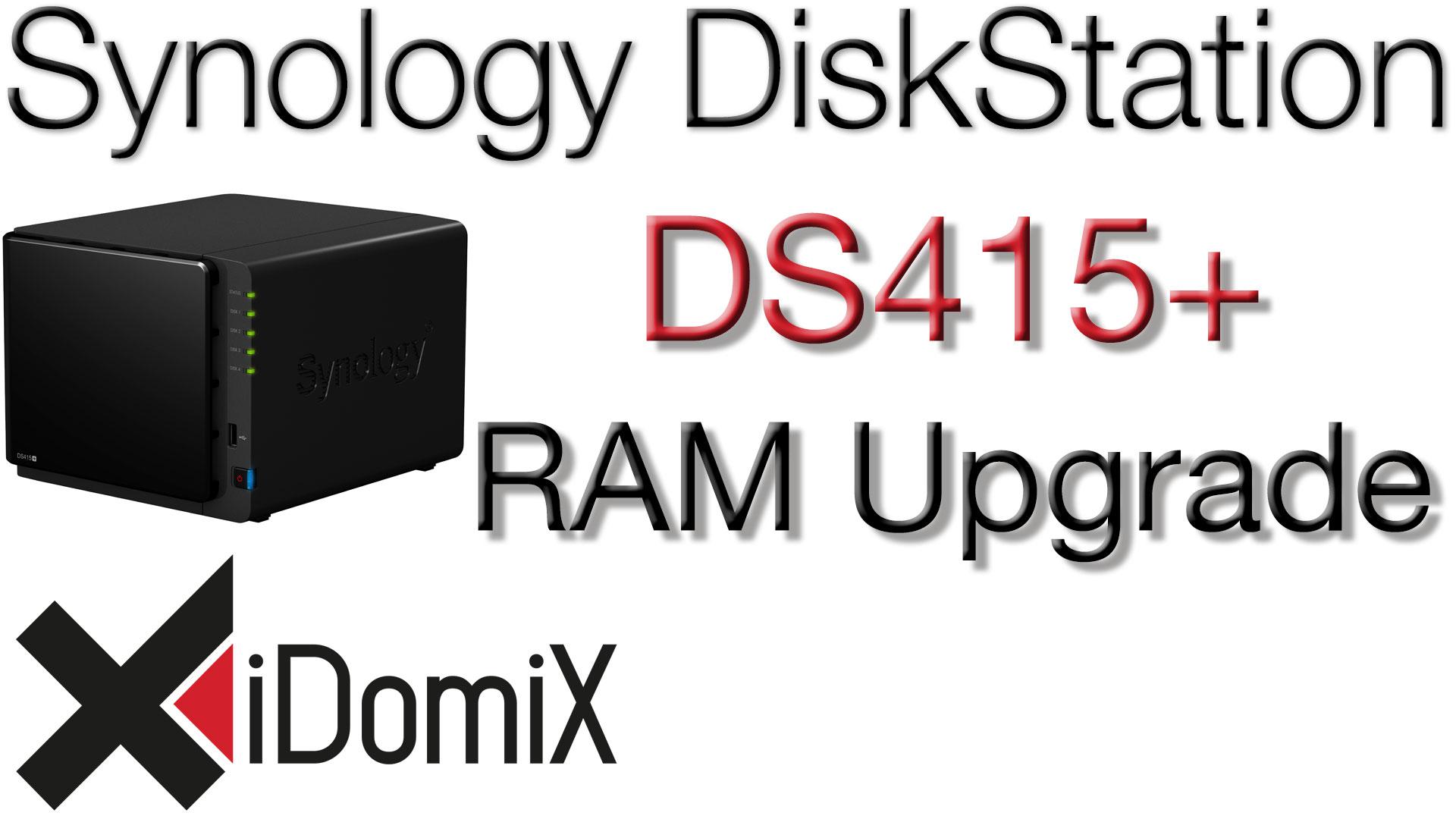 Synology DiskStation DS415+ RAM Upgrade