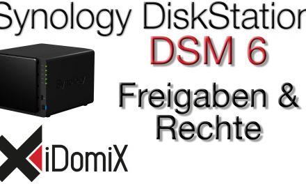 Synology DiskStation DSM 6 Freigaben Berechtigungen Unterordner Zugriffsrechte einrichten