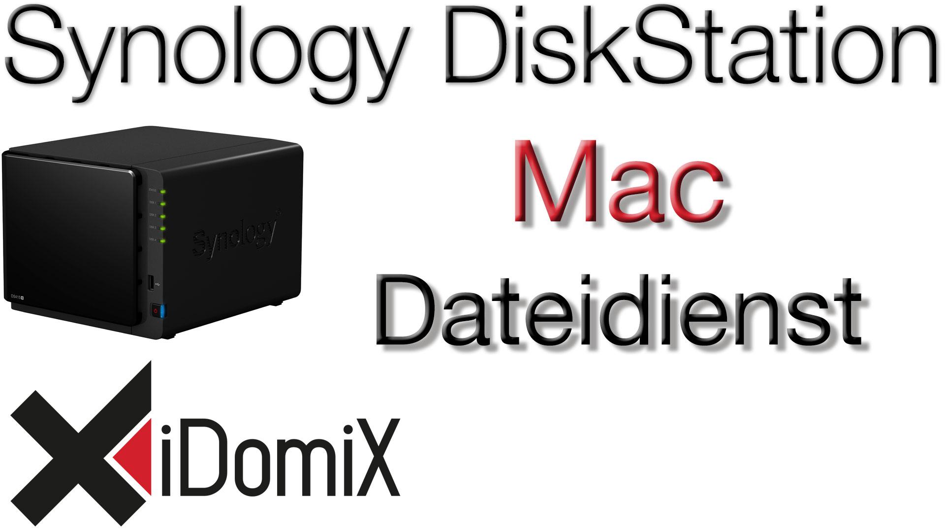 #322 Synology DiskStation DSM 6 Mac Dateidienst einrichten