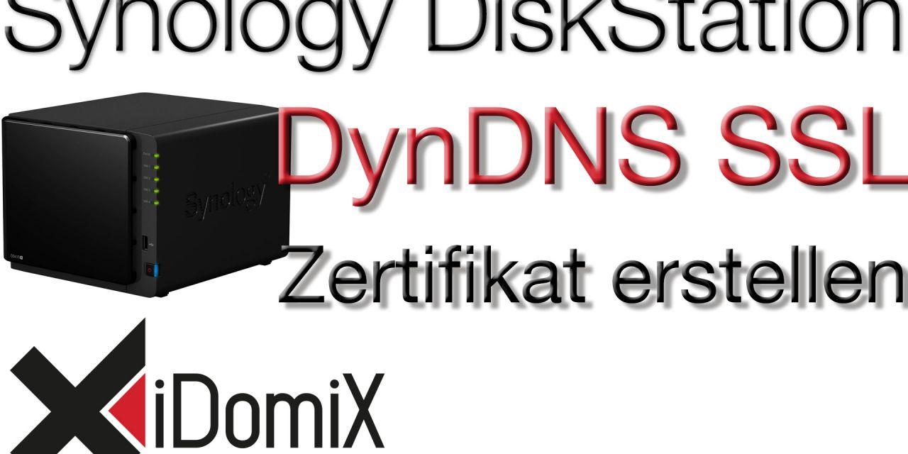 Synology DiskStation Gültiges DynDNS SSL Zertifikat erstellen