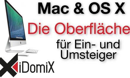 Mac OS X Schreibtisch, Oberfläche und Umgang für Einsteiger und Umsteiger von Windows
