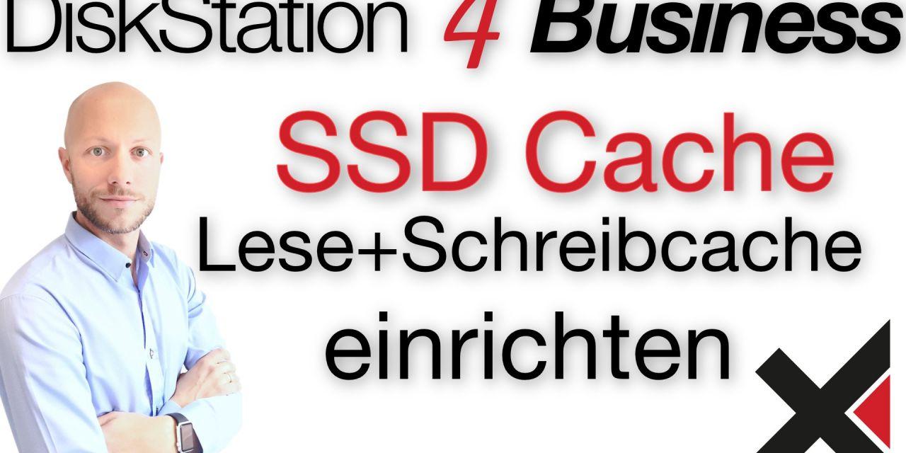 DiskStation 4 Business SSD Cache einrichten (Lese und Schreibcache)