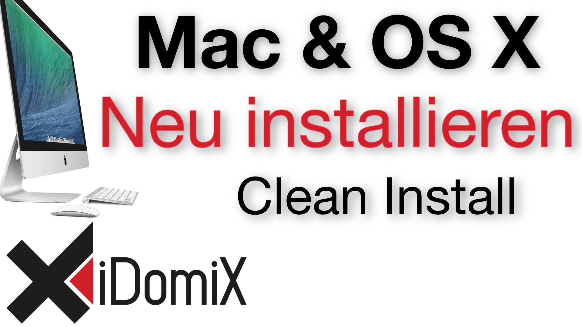 Mac OS X Neu installieren Auslieferungszustand Clean Install El Capitan