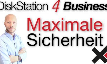 DiskStation 4 Business Maximale Sicherheit im Unternehmenseinsatz