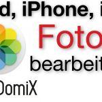 Fotos bearbeiten am iPad und iPhone (Fotos App, PS Express)
