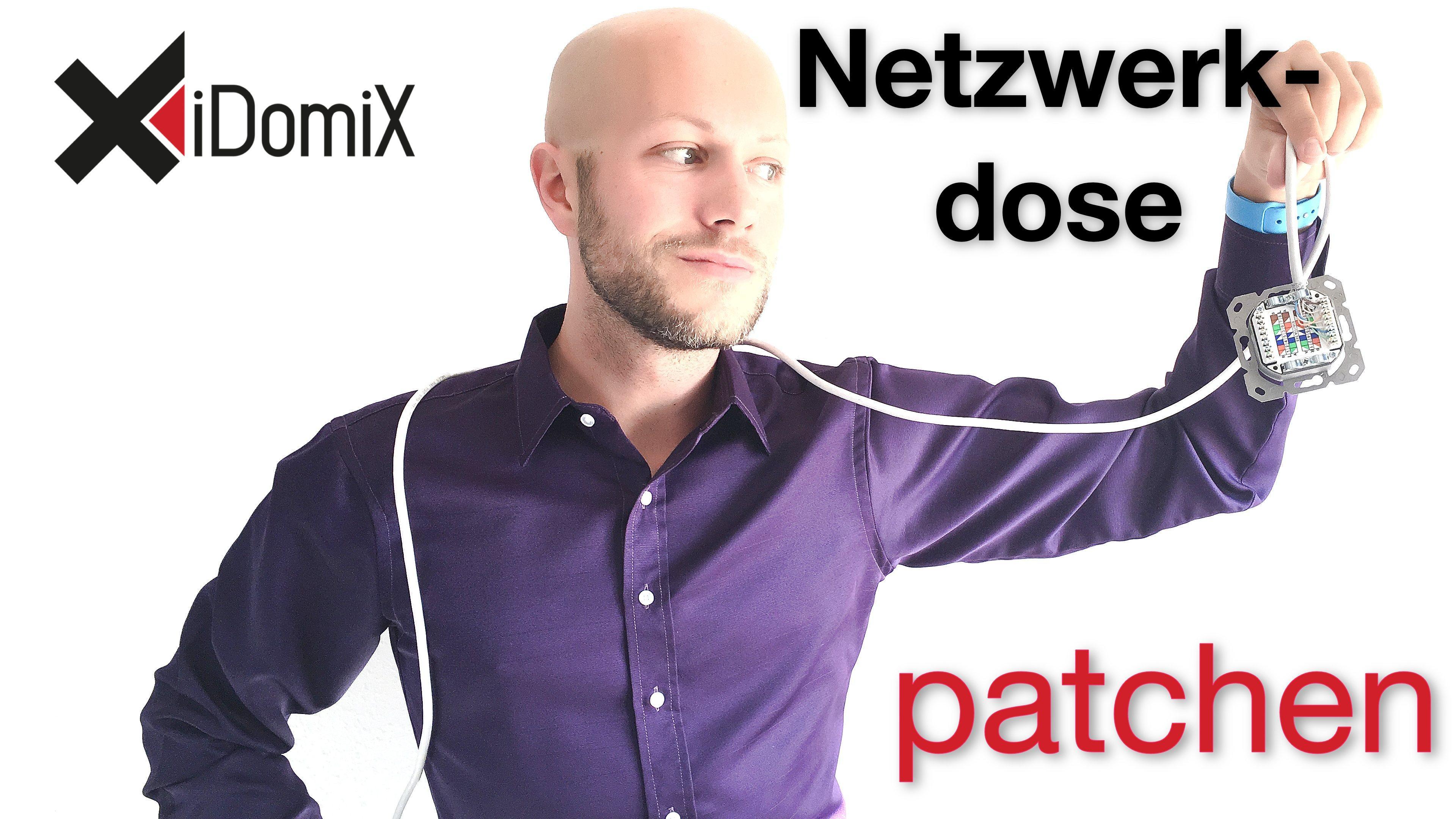 Netzwerkdose verkabeln anschließen patchen