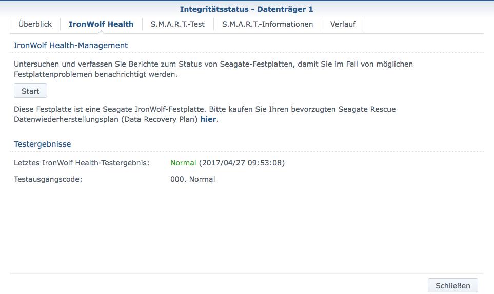 Seagate IronWolf Health Management