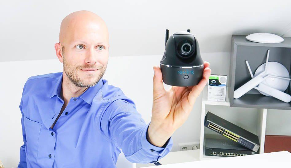 IP-Kamera Tag/Nacht mit PAN/TILT/Zoom und 2560×1440 (4 MP)